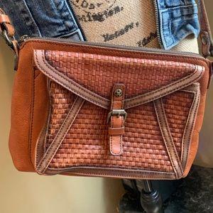 ✨👜✨Patricia Nash Tan Leather Avellino Crossbody